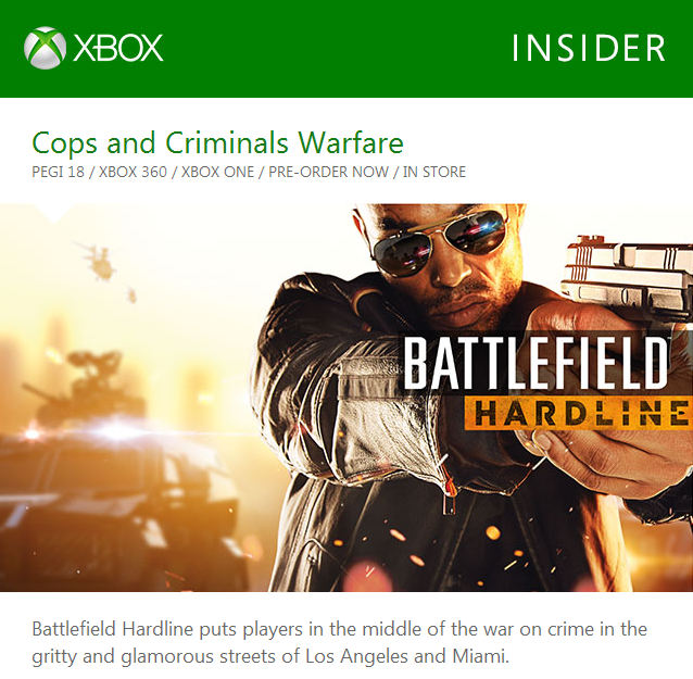 XboxBattlefieldHardlineMarketingFail